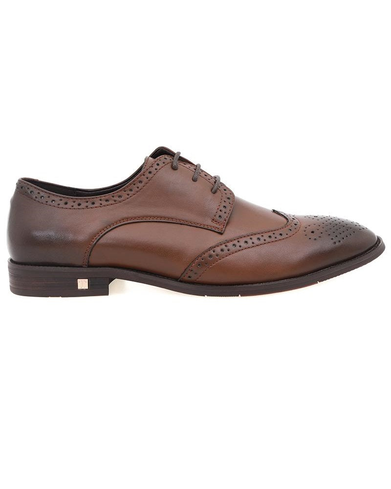 Tomaz F215 Wingtip Lace Up Formal (Coffee) (4496813260896)
