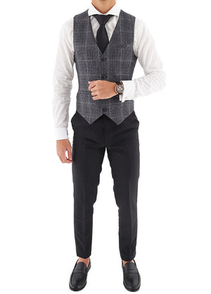 Load image into Gallery viewer, Tomaz EL4585-12 Men's Checkered Vest (Grey)