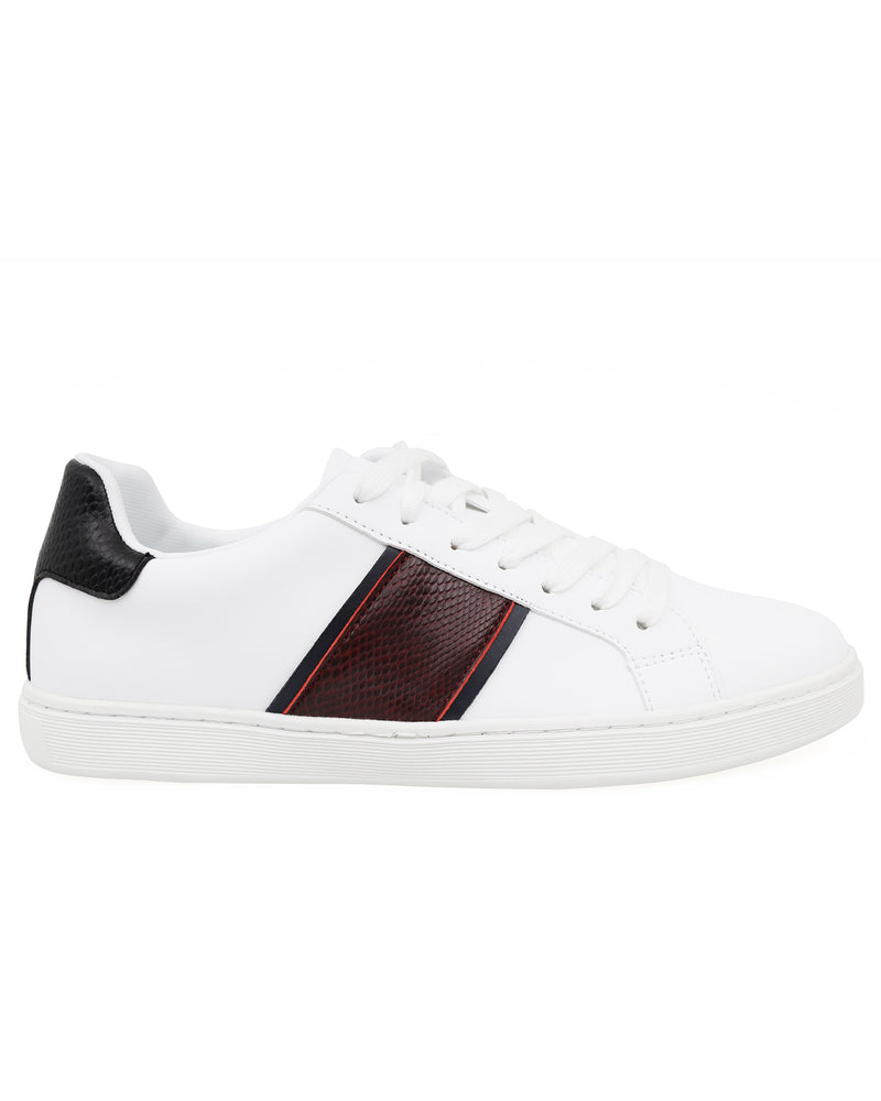 Tomaz TR820L Ladies Sneakers (White/Red/Navy)