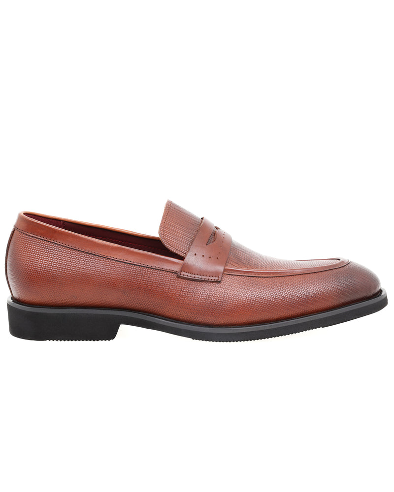 Tomaz HF014 Formal Penny Loafers (Brown)
