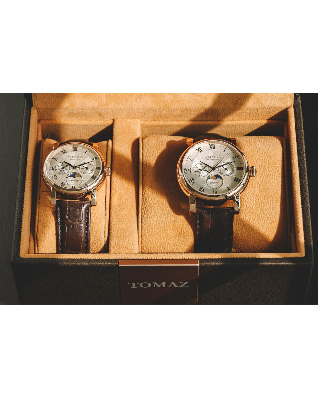 Tomaz Mens Watch TQ007 (Rose Gold/White)