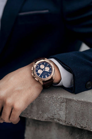 Load image into Gallery viewer, Tomaz Men's Watch TW008 (Rose Gold/Navy) (1650886639705)