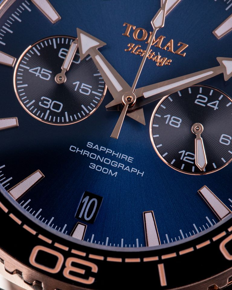 Tomaz Men's Watch TW012 - Rose Gold/Navy