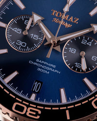 Tomaz Men's Watch TW012 - Rose Gold/Navy (4339897958496)