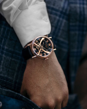 Load image into Gallery viewer, Tomaz Men's Watch TW015 (Rose Gold/Blue) (2182751191136)