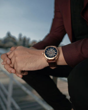 Load image into Gallery viewer, Tomaz Men's Watch TW009B (Rose Gold/Navy) -1st ver. (1489331912793)