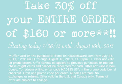 30% off ENTIRE PURCHASE! **see details