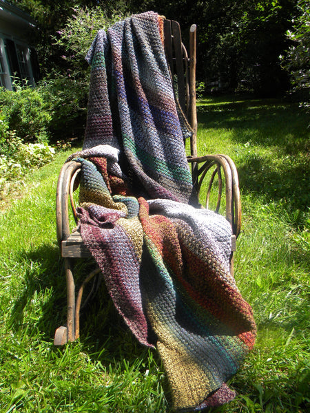 Large Multi-Basket Weave Blanket
