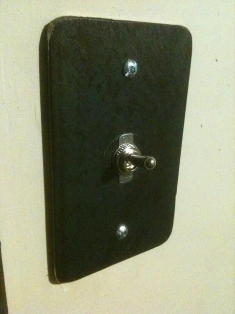 Steel switch plate