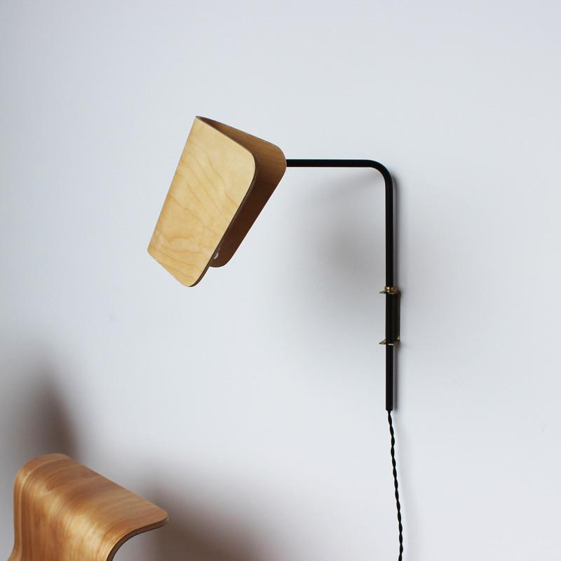 Molded plywood lamp