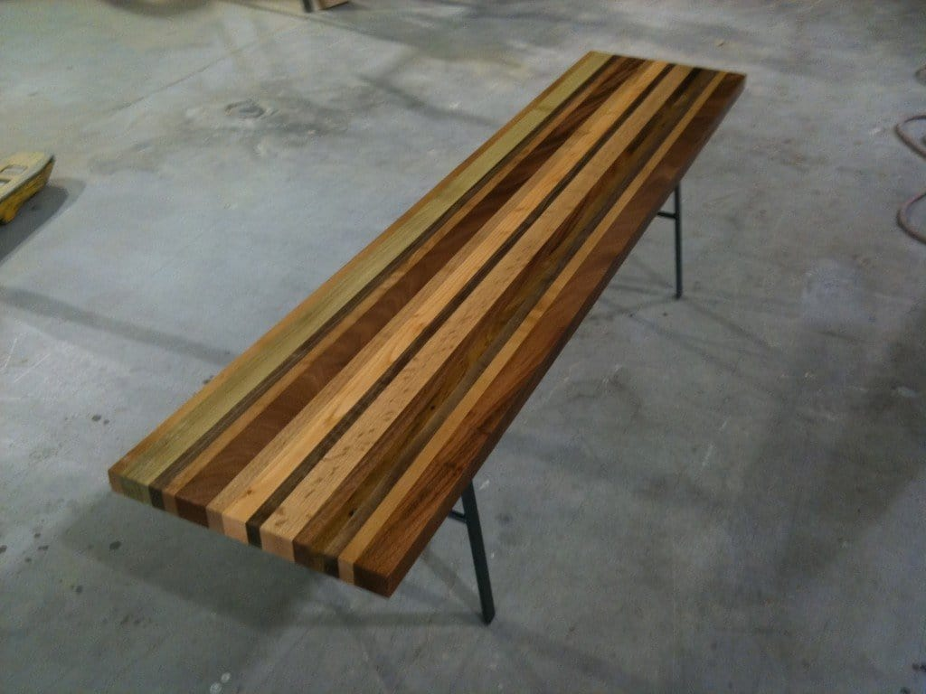 Scrapwood bench