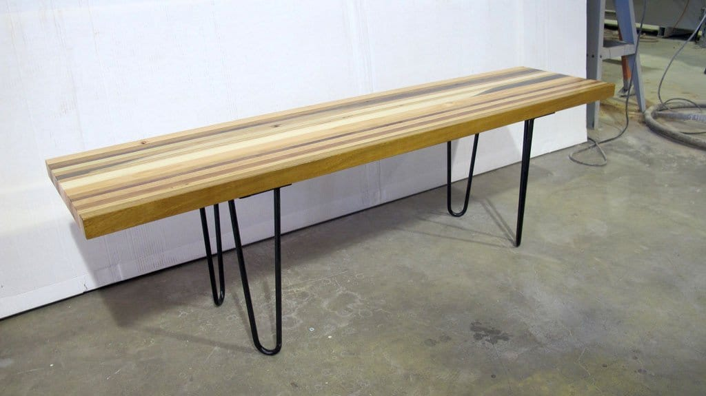 Hairpin Scrapwood bench