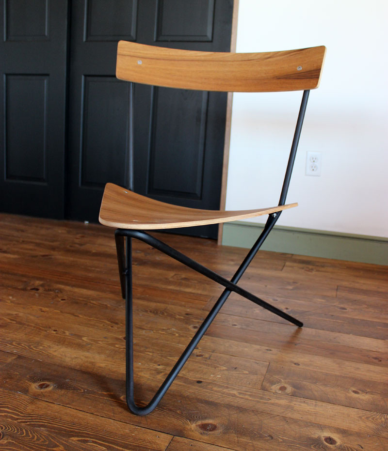 The First Chair I Made Was This Triangular Shaped One. Iu0027ve Had The Idea  For A While Of Making A Chair With Only Two Pieces Of Steel With The Least  Amount ...