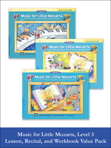 Music for Little Mozarts Level 3 (Value Pack)