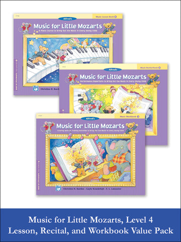 Music for Little Mozarts Level 4 (Value Pack)