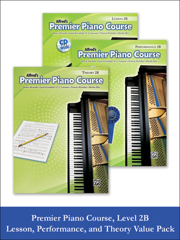 Premier Piano Course, Lesson, Theory & Performance 2B (Value Pack)