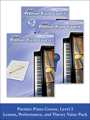 Premier Piano Course, Lesson, Theory & Performance 3 (Value Pack)
