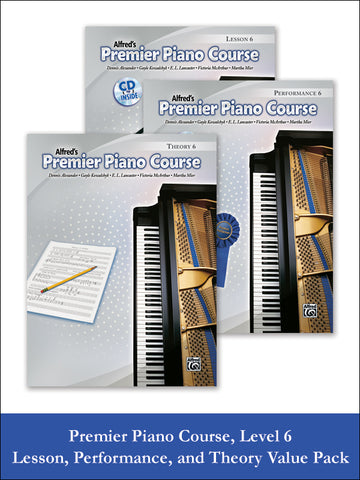 Premier Piano Course, Lesson, Theory & Performance 6 (Value Pack)
