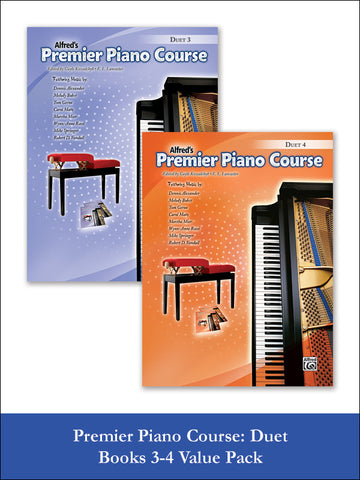 valuepack* Premier Piano Course Duet 3-4 (Value Pack)