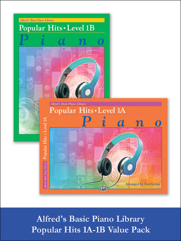valuepack* Alfred's Basic Piano Library: Popular Hits, Levels 1A & 1B (Value Pack)