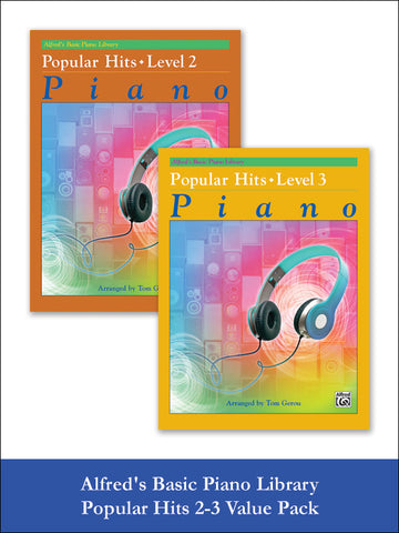 valuepack* Alfred's Basic Piano Library: Popular Hits, Levels 2 & 3 (Value Pack)