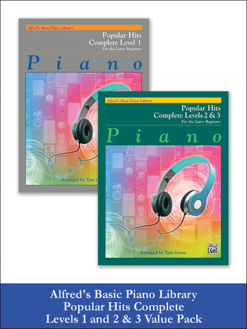 valuepack* Alfred's Basic Piano Library: Popular Hits, Complete Levels 1 and 2 & 3 (Value Pack)
