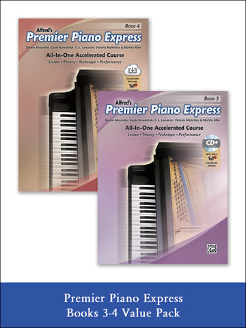 valuepack* Premier Piano Express, Books 3 & 4 (Value Pack)