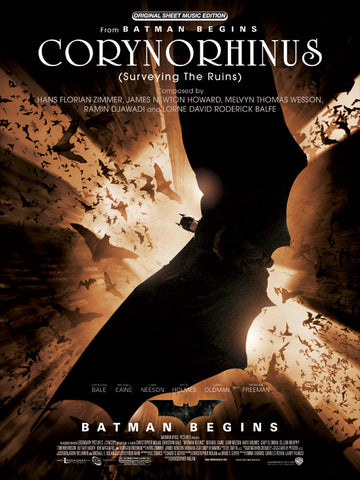 Corynorhinus (Surveying the Ruins) (from <I>Batman Begins</I>) Piano/Vocal/Chords