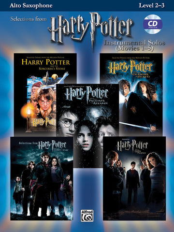 Harry Potter™ Instrumental Solos (Movies 1-5) Alto Sax Book & CD