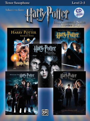 Harry Potter™ Instrumental Solos (Movies 1-5) Tenor Sax Book & CD