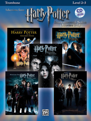 Harry Potter™ Instrumental Solos (Movies 1-5) Trombone Book & CD