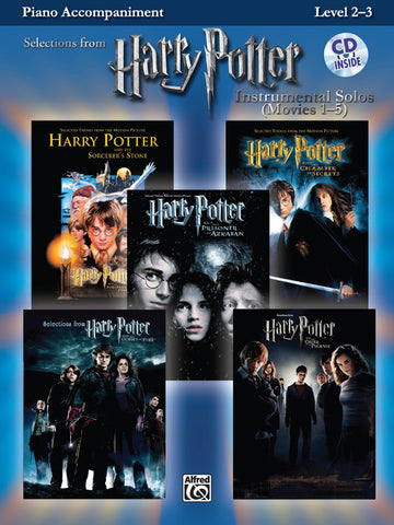 Harry Potter™ Instrumental Solos (Movies 1-5) Piano Acc. Book & CD