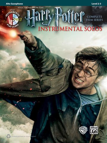 Harry Potter Instrumental Solos Alto Sax Book & CD
