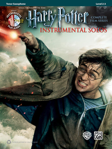 Harry Potter Instrumental Solos Tenor Sax Book & CD