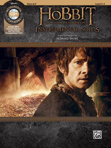The Hobbit: The Motion Picture Trilogy Instrumental Solos Horn in F Book & CD