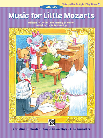 Music for Little Mozarts: Notespeller & Sight-Play Book 4