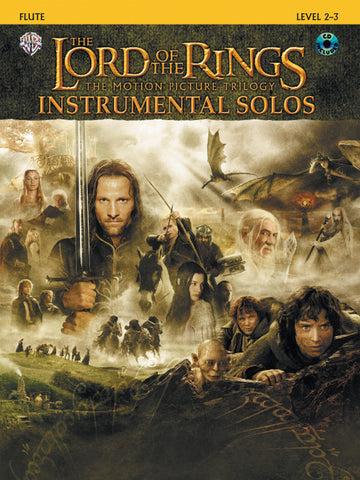 <I>The Lord of the Rings</I> Instrumental Solos Flute Book & CD