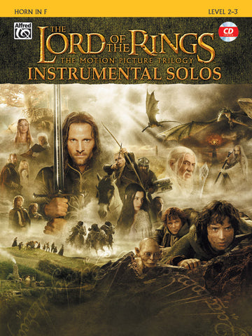 <I>The Lord of the Rings</I> Instrumental Solos Horn in F Book & CD