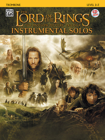 <I>The Lord of the Rings</I> Instrumental Solos Trombone Book & CD