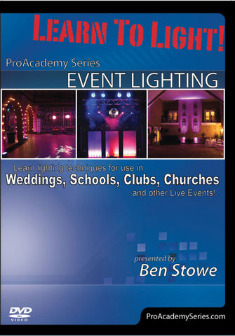 Learn to Light! Pro Academy Series: Event Lighting (DVD)