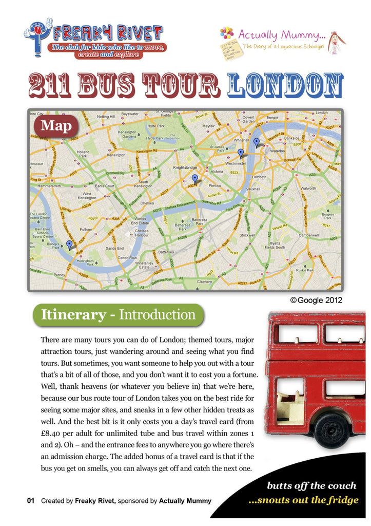 Bus Route 211 Family Day Out in London