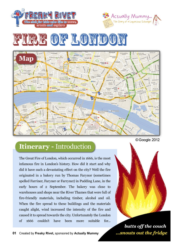 Family itinerary for a day out based on The Great Fire of London
