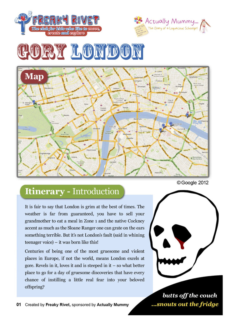 One day itinerary for families with a theme of Gory London