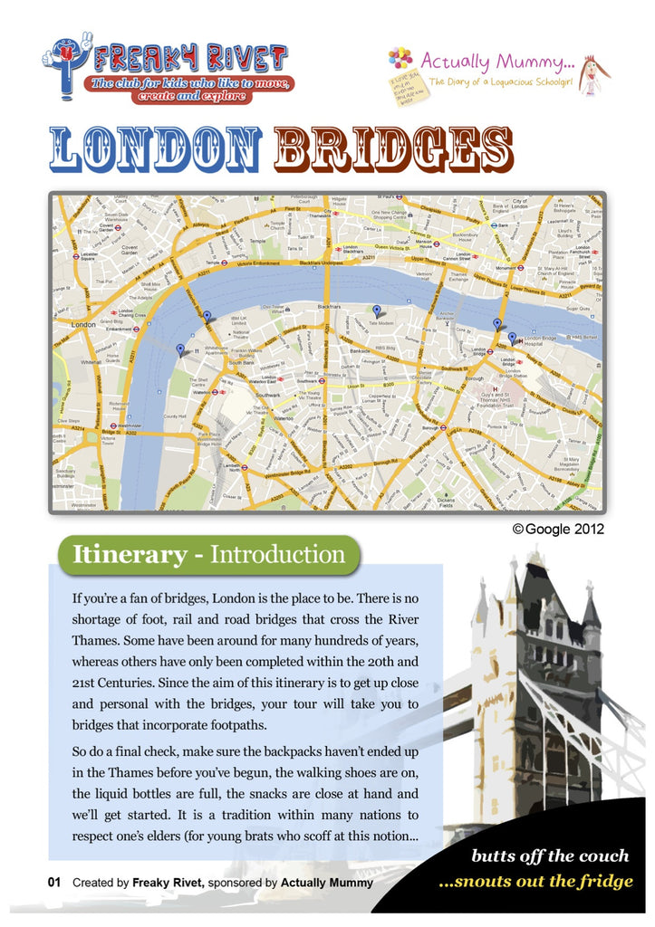 One day itinerary for families around London's Bridges