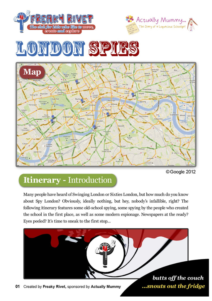 One day itinerary for families based around London Spies.