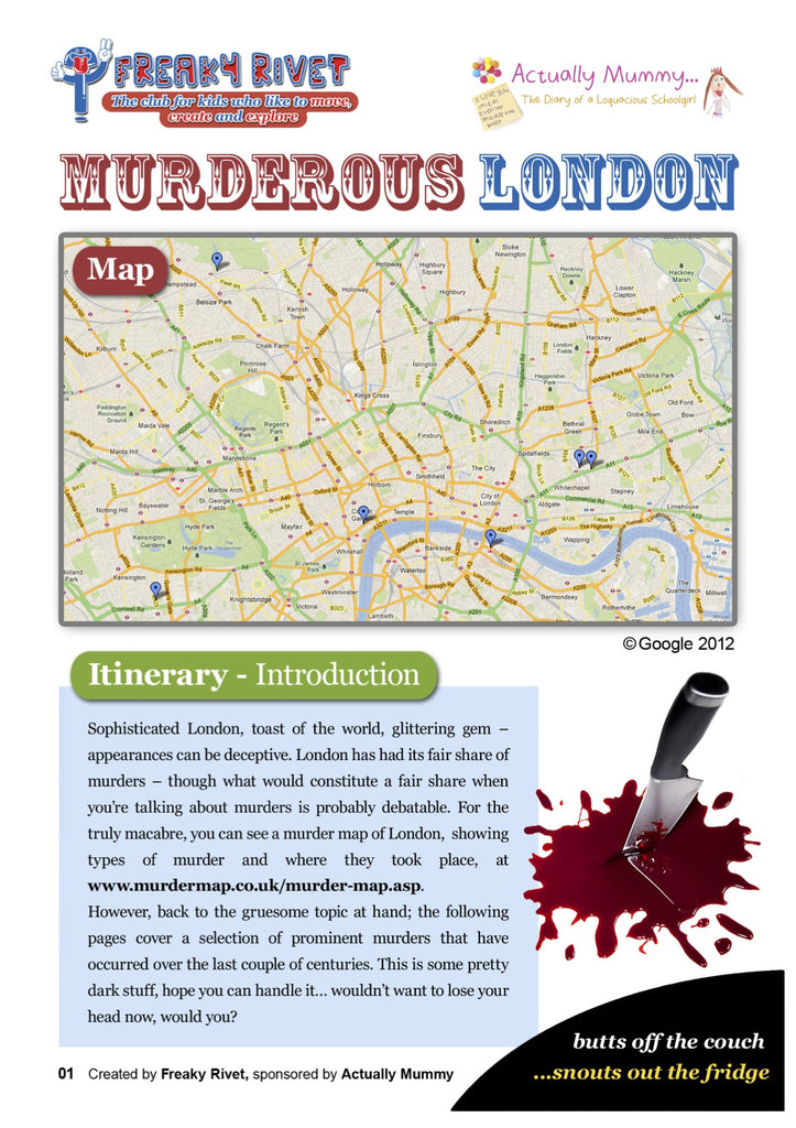 Deadly good family itinerary for a day around Murderous London.