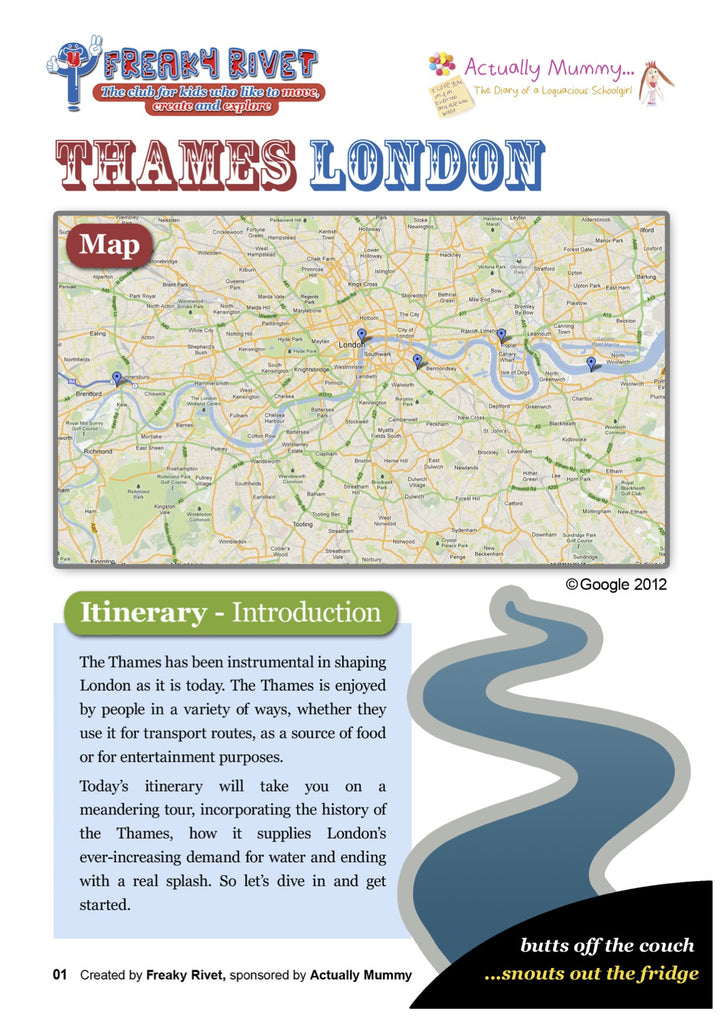 One day family itinerary around the Thames.