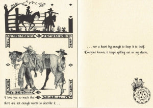 COWBOY KISSES CARD - LOVE YOU SO MUCH