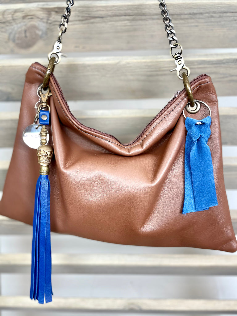 'My Little Brown Donkey' Oversized Leather Pochette
