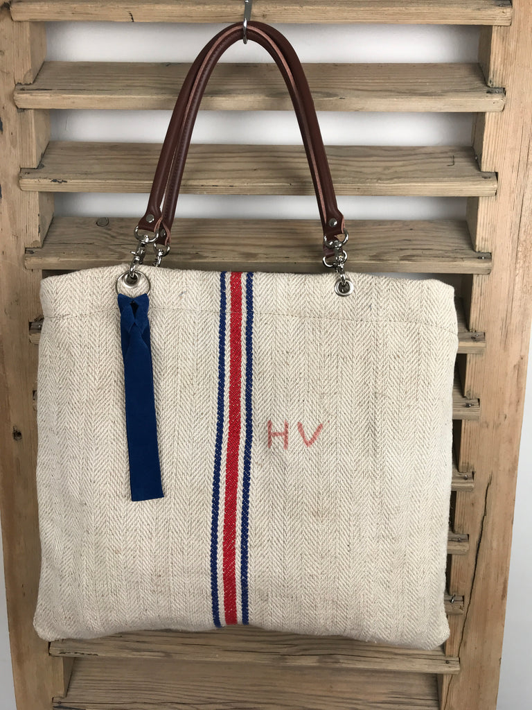 One Red Stripe One Blue Stripe 'One Day In Provence Bag'